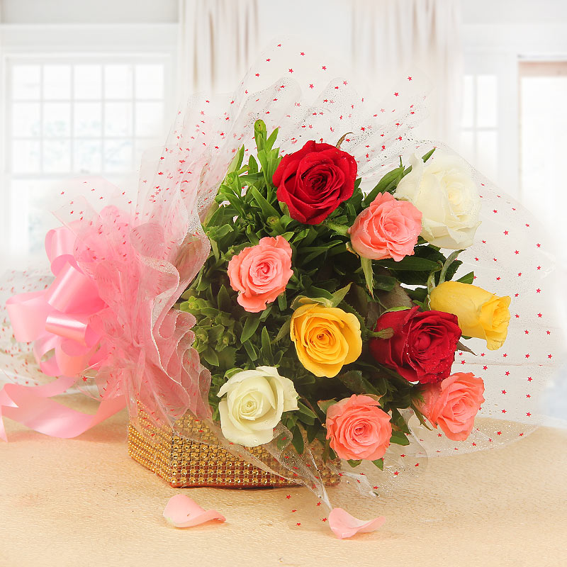 Roses Bouquet for Valentines Day Gift
