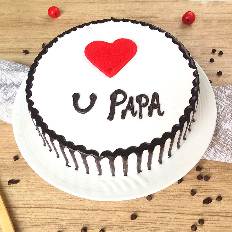 Enjoyable Order Love You Papa Cake Online Price Rs 699 Floweraura Personalised Birthday Cards Rectzonderlifede