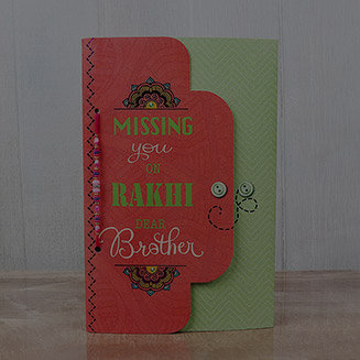 Send Rakhi With Greeting Card
