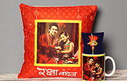 Send Rakhi with Cushion