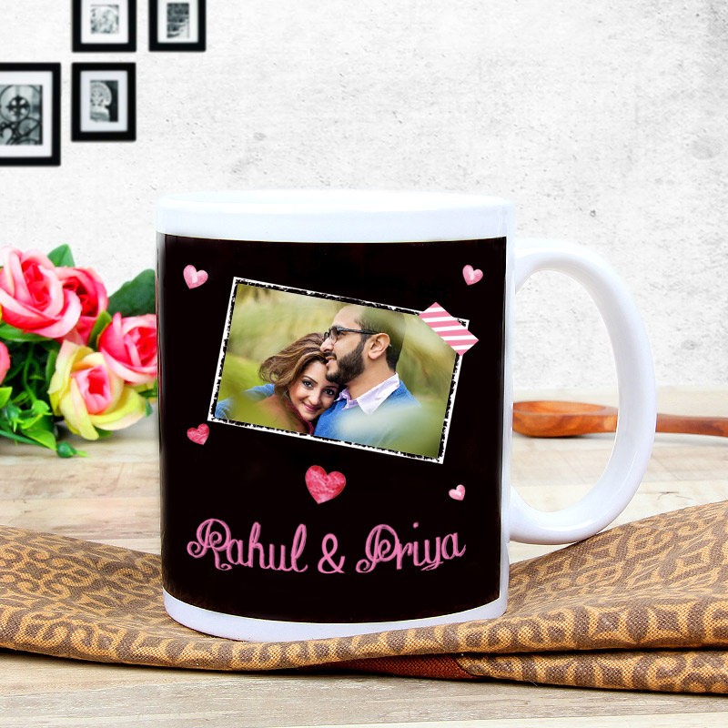 Anniversary Ecstacy - A Personalised Anniversary Mug with Front Sided View