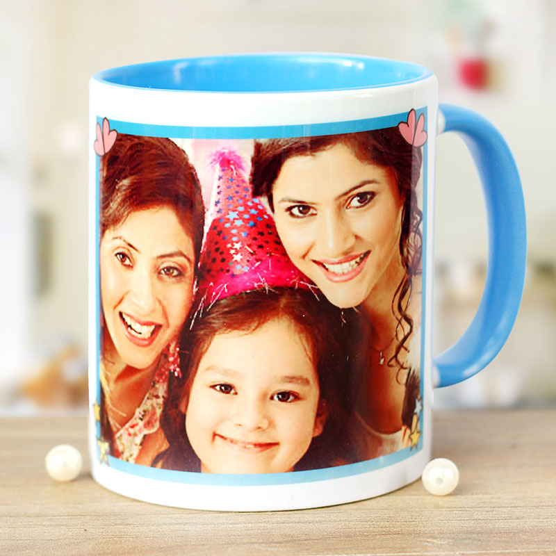 Birthday Celebration Personalised Mug with Front Sided View