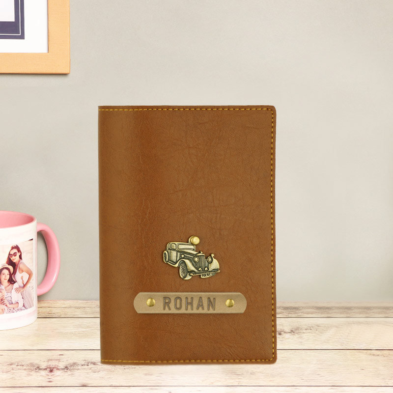 Brown Personalized Passport Cover