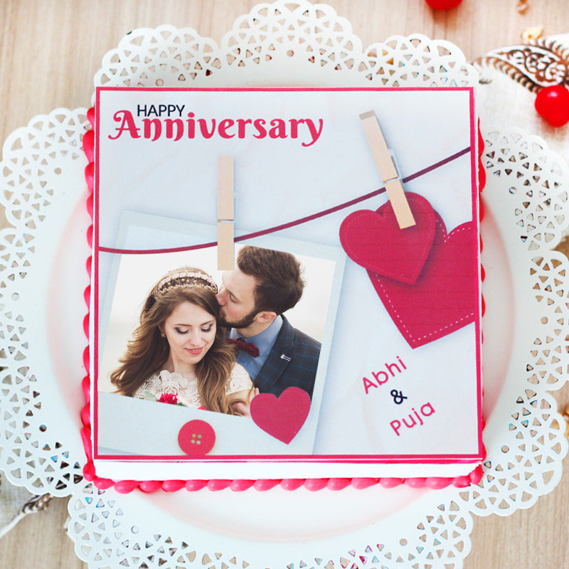 Together Forever photo cake for anniversary