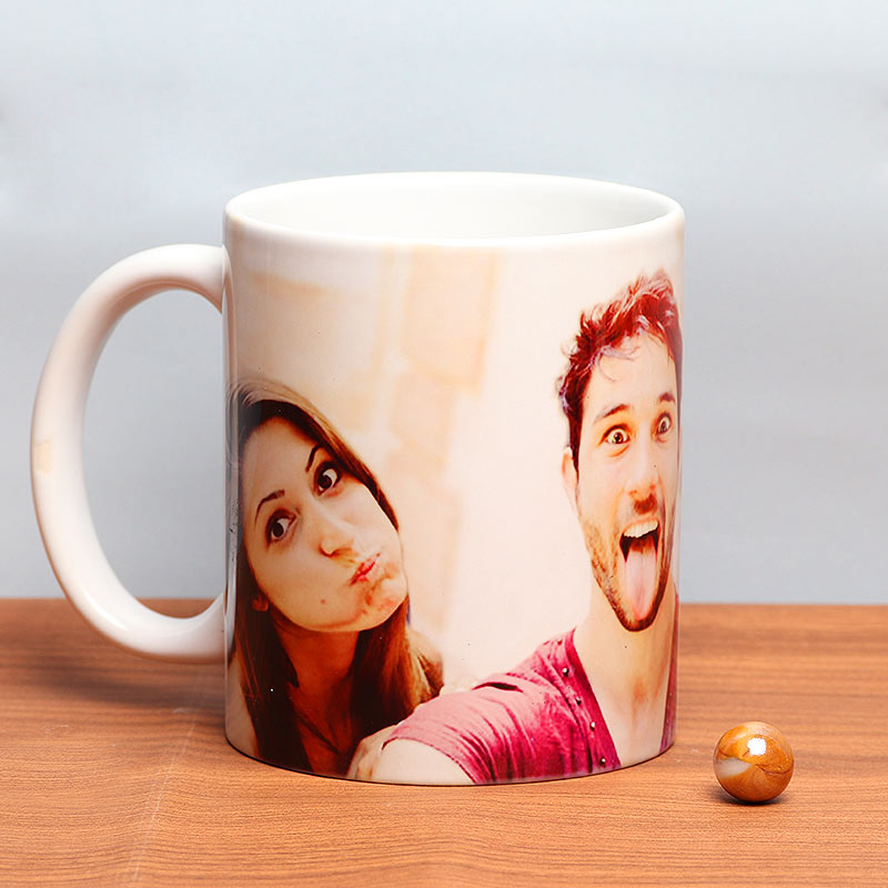 Friendship Captured - Customised Mug Gift with Back Side View