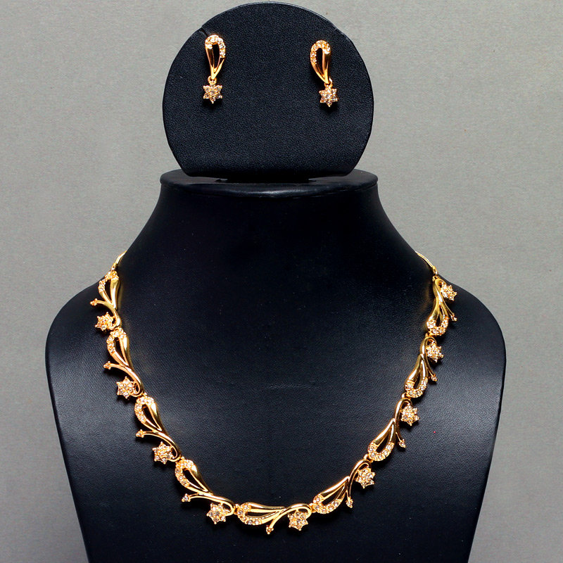 Golden Peacock Gold-Plated Jewelry Set