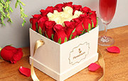 Corporate Rose Basket