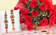 Rakhi with Flowers