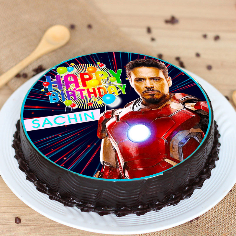 Tremendous Order Iron Man Bday Poster Cake Online Price Rs 949 Floweraura Birthday Cards Printable Trancafe Filternl