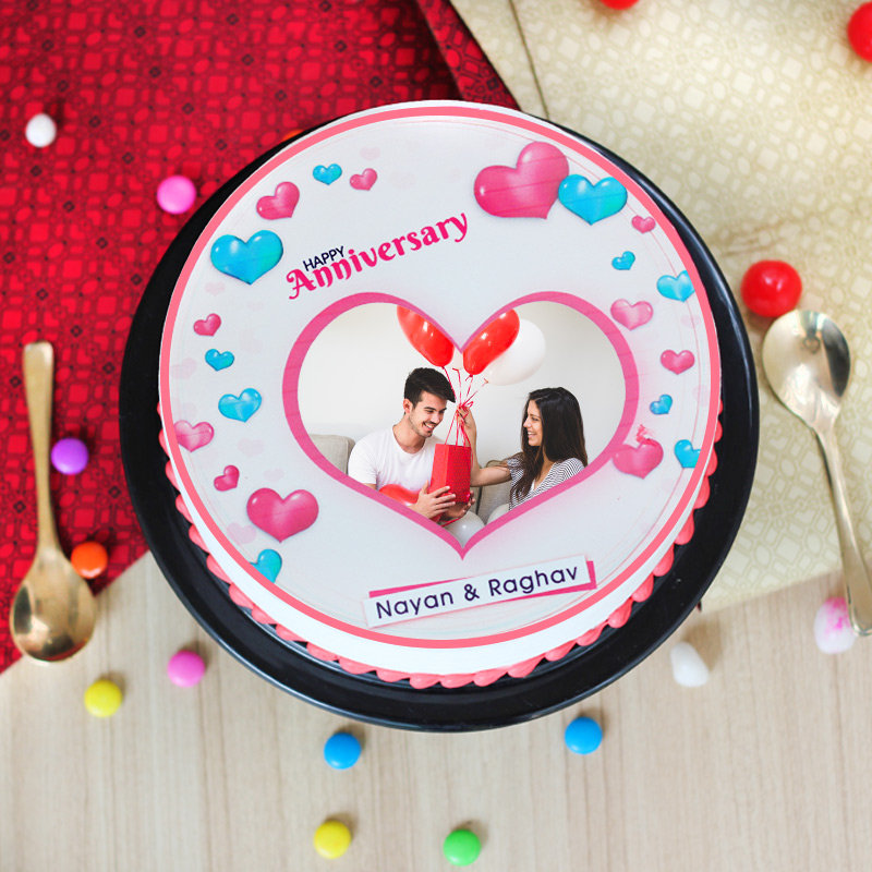 Soulmate Love photo cake for anniversary