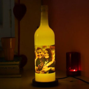 Personalised Bottle Photo Lamps