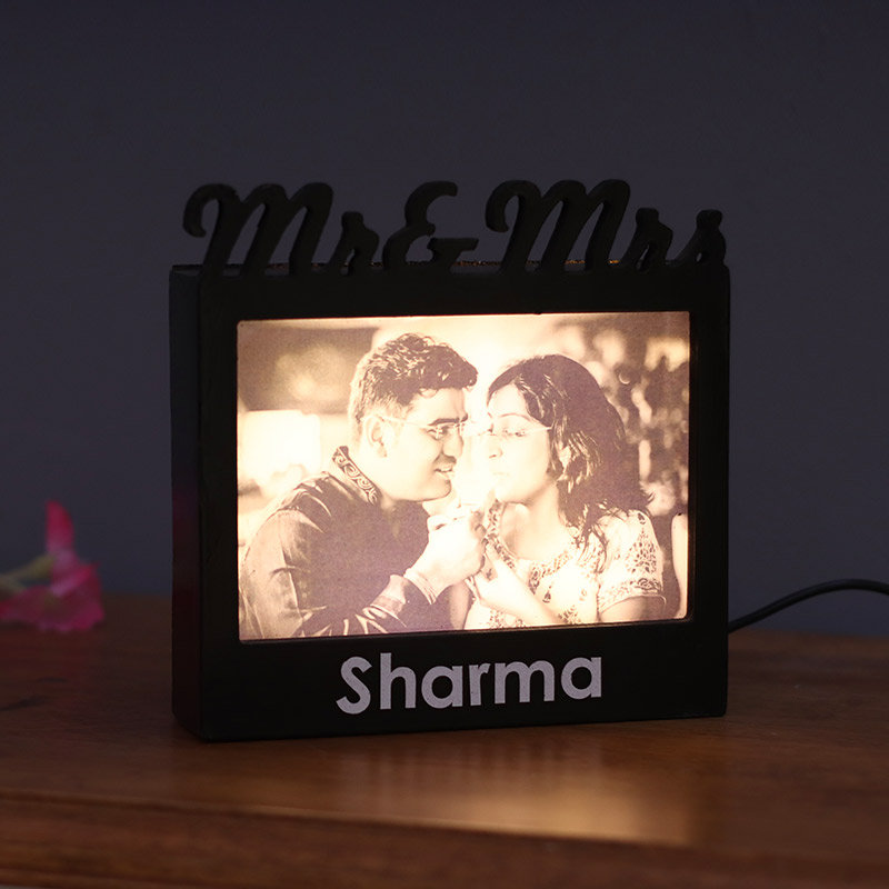 Mr. and Mrs. Personalised Lamp