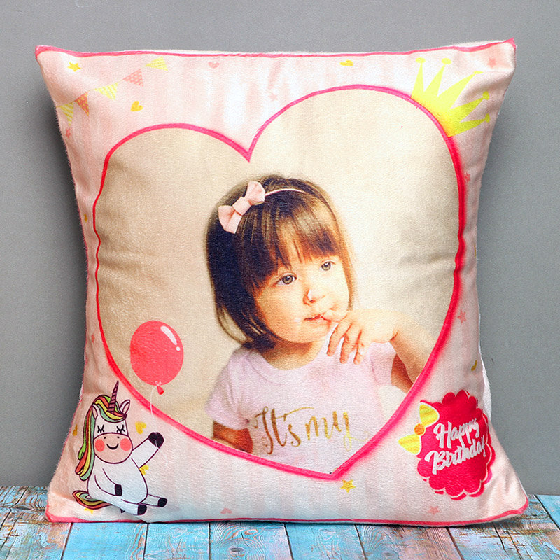 Personalised Pink Cushion for Girls