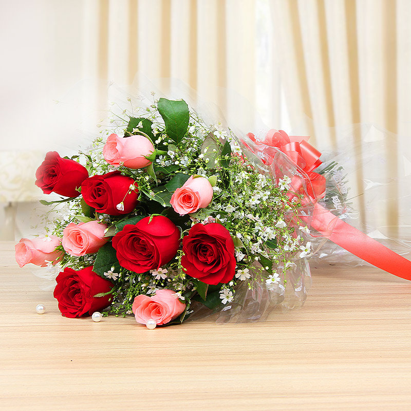 Bunch of mixed roses - A gift of Smitten In Love