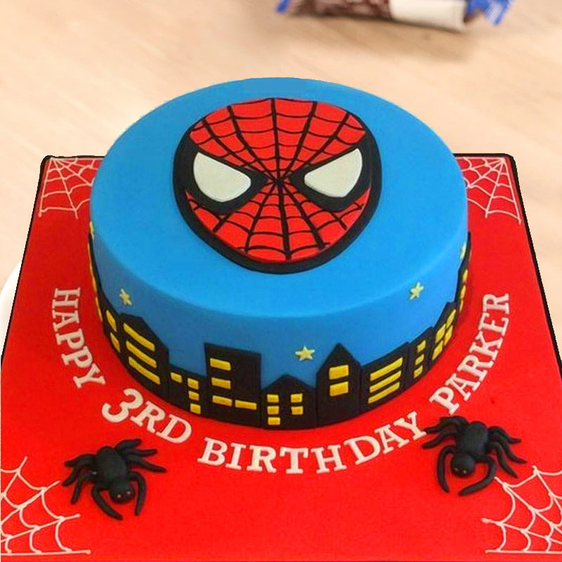 Pleasant Order Spider Man Birthday Cake Online Price Rs 3499 Floweraura Personalised Birthday Cards Paralily Jamesorg