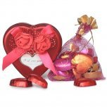 10 Handmade chocolates in a cute Heart shaped box
