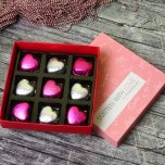 Box of 9 Heart Shaped Chocolates