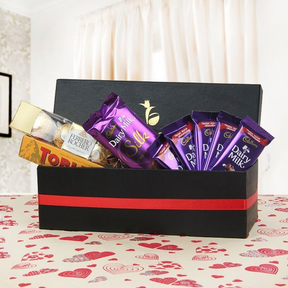 Chocolates packed in treasure box - A quality gift hamper