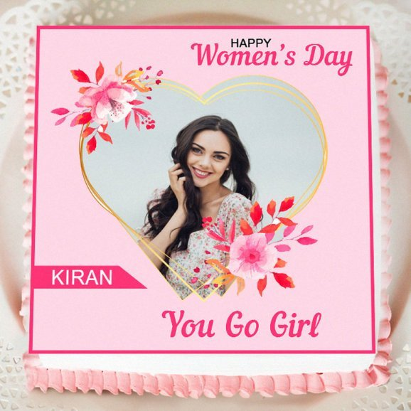 Women's day photo cake