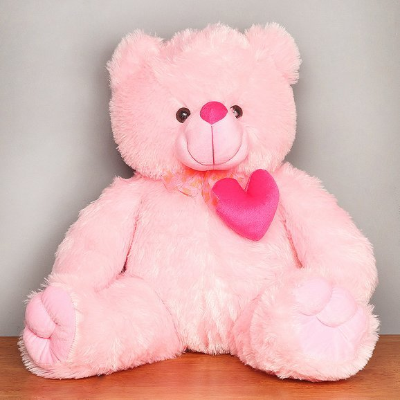 22-inches pink teddy bear - First gift of Cuteness Redefined