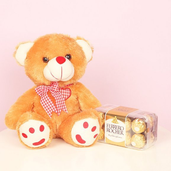 Soft Teddy With Ferrero Rocher