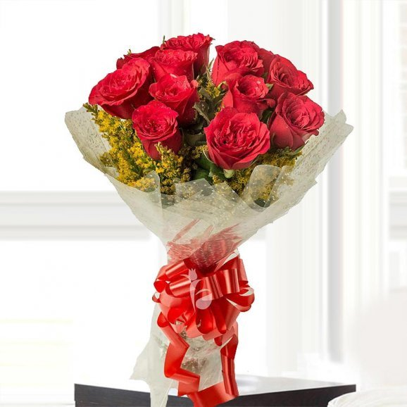 12 Red Roses Bunch