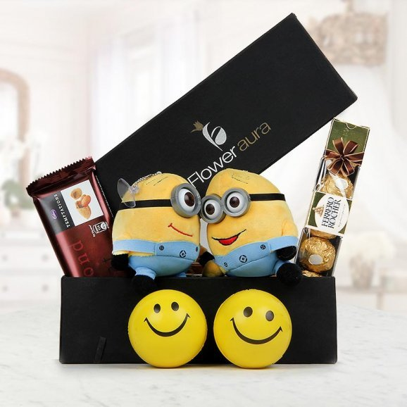 Cadbury Temptation, a pack of 4 Ferrero Rocher and 2 adorable Minions