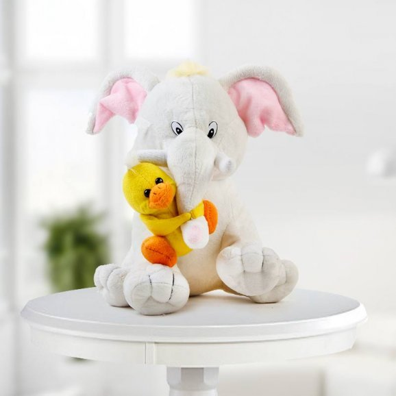 Baby Elephant with Tweety
