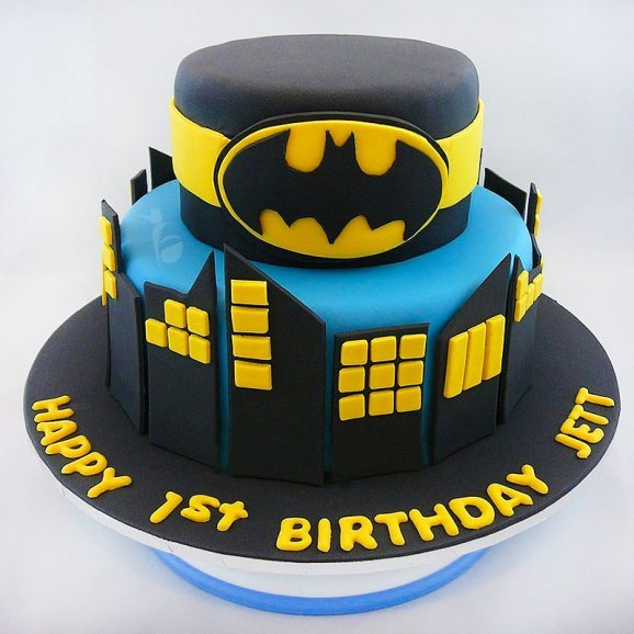 Batman Theme Fondant Cake