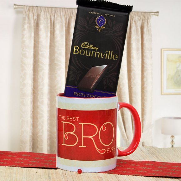 Dazzling Combo of Best Bro Ever Mug and a Cadbury Bournville