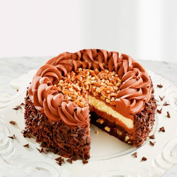 Choco nuts cake delivery in Gurgaon