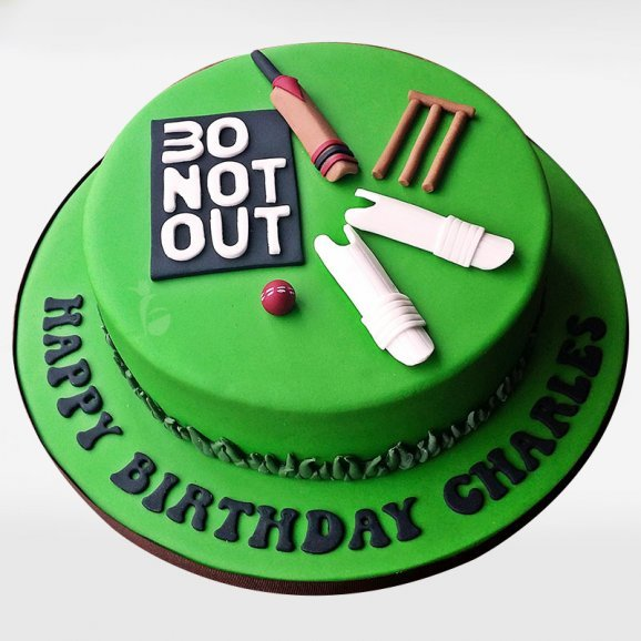 Cricket Theme Fondant Cake