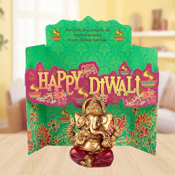 Diwali Blessings- Ganesha Idol, Greeting Card