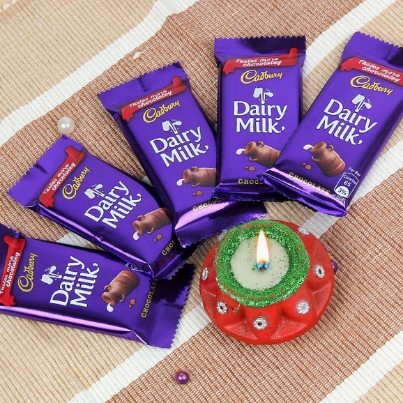 Diwali Diya Lights with Chocolates