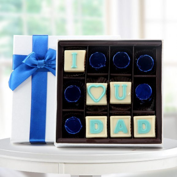 I love you dad handmade chocolate for the occasion of fathers day