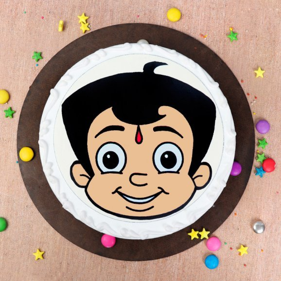 Chhota Bheem Cake -Top View