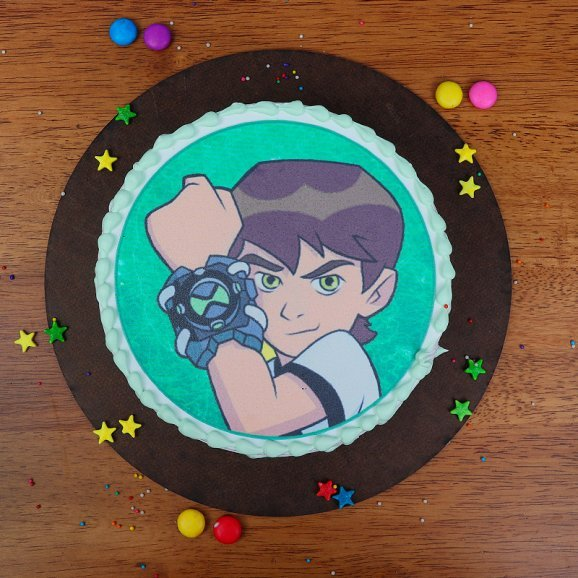 Ben Ten Photo Cake - Top View