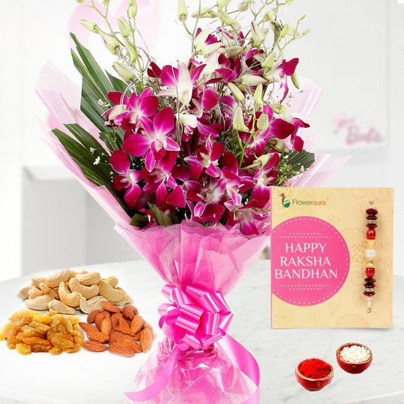 Rakhi Orchids with Dry fruit