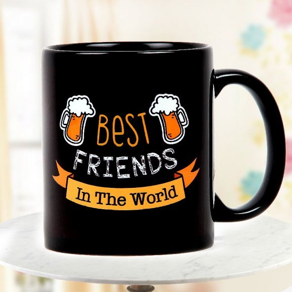 Best Friends in the World Quoted Black Coffee Mug