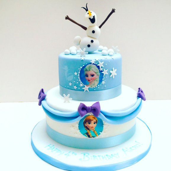 Frozen Theme Cake for Child Birthday