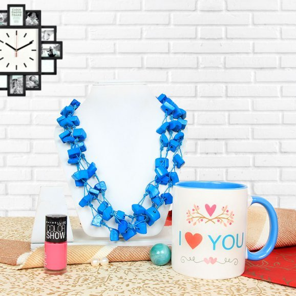 I Love You Mug Nail Paint Oceanic Necklace