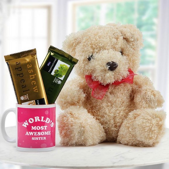 Combo of 12 inch cuddle teddy with