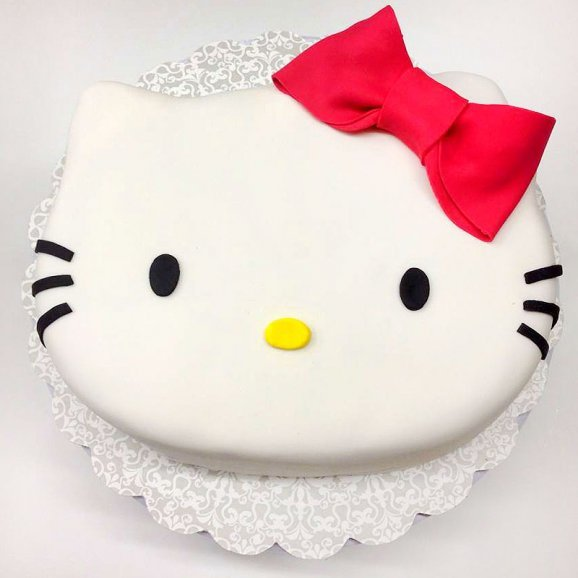 Hello Kitty Designer Fondant Cake