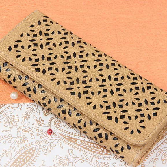 brown clutch purse for women