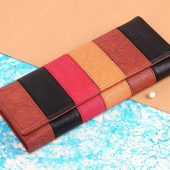 stylish multicoloured clutch purse for women