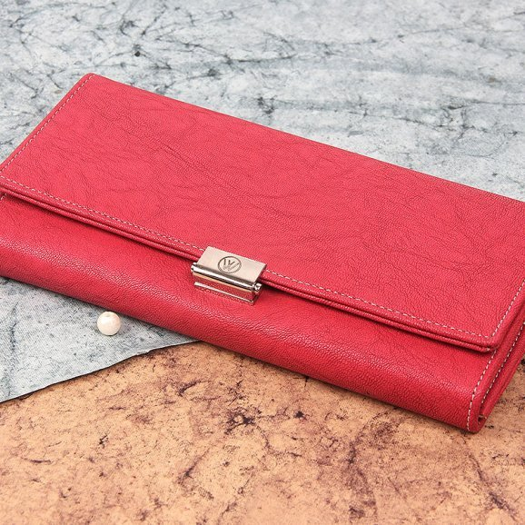 red hand clutch purse for women