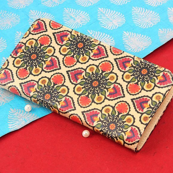 floral pattern hand clutch purse for women