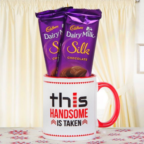 This Handsome Is Taken Mug and 2 Silk Chocolates