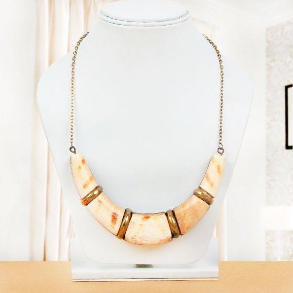 Alluring Statement Necklace with Wearing View