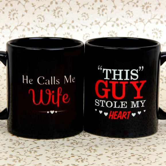 Calls me Wife and Stole Heart Couple Mugs